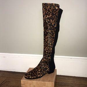 Vince Camuto Karita Leopard Knee-High Boots
